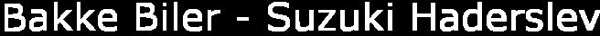 Bakke Biler - Suzuki Haderslev